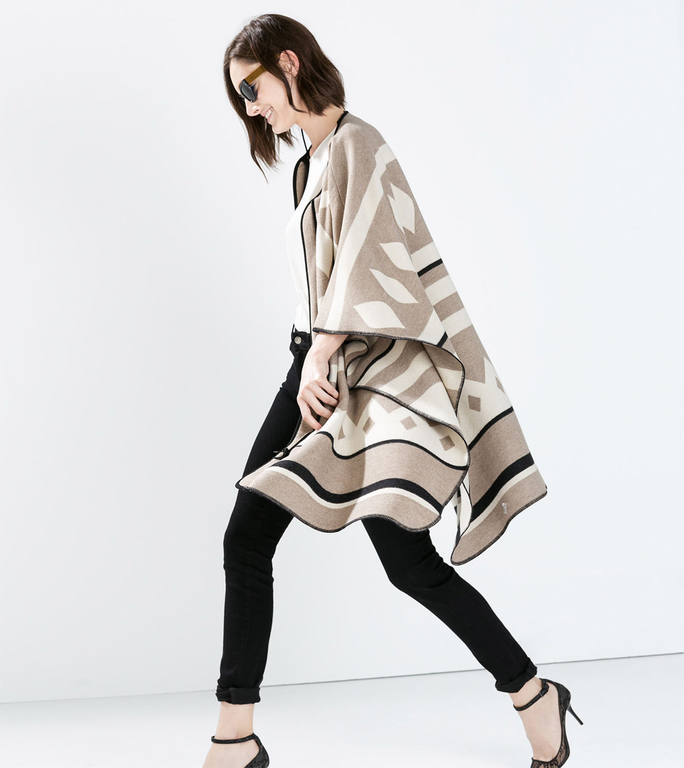 Zara Poncho Coat