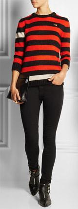 BELLA FREUD Menace Striped Knitted Sweater