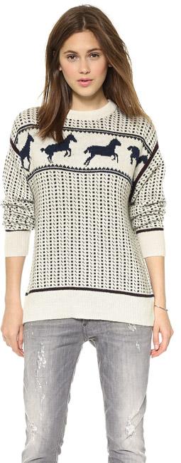 Band of Outsiders Fair Isle Horses Sweater