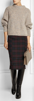 ELIZABETH AND JAMES Maeve Plaid Seersucker Skirt