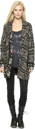 Free People Hidden Snowflake Cardigan