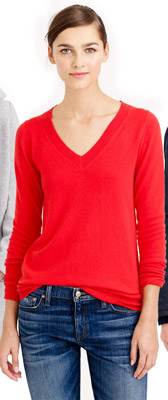 J.Crew Collection Cashmere V-Neck Sweater