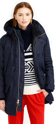 J.Crew Collection Japanese Denim Burbridge Parka