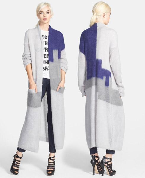 Leith Colorblock Long Cardigan
