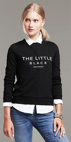 The Little Black Sweatshirt Pullover