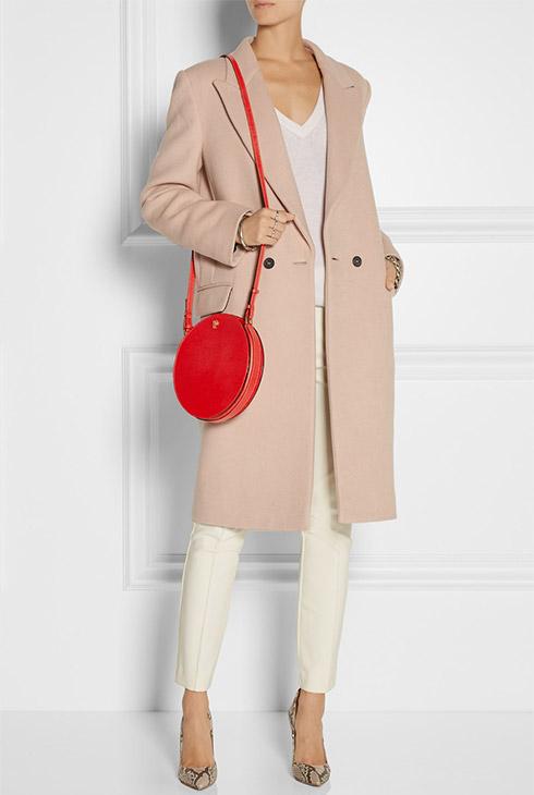 VALEXTRA Galleria Textured Leather Shoulder Bag