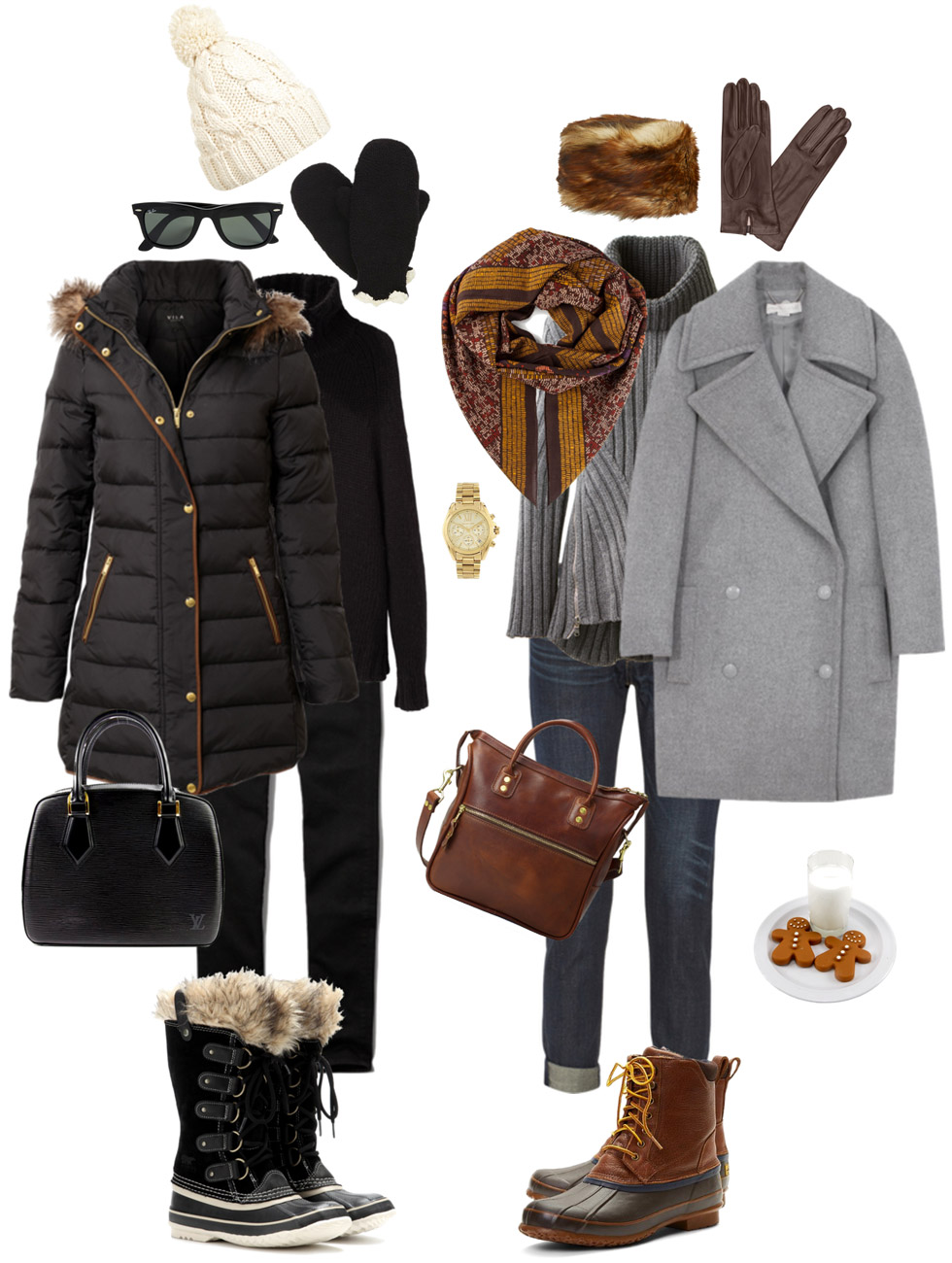 Casual Neutrals with Snow Boots