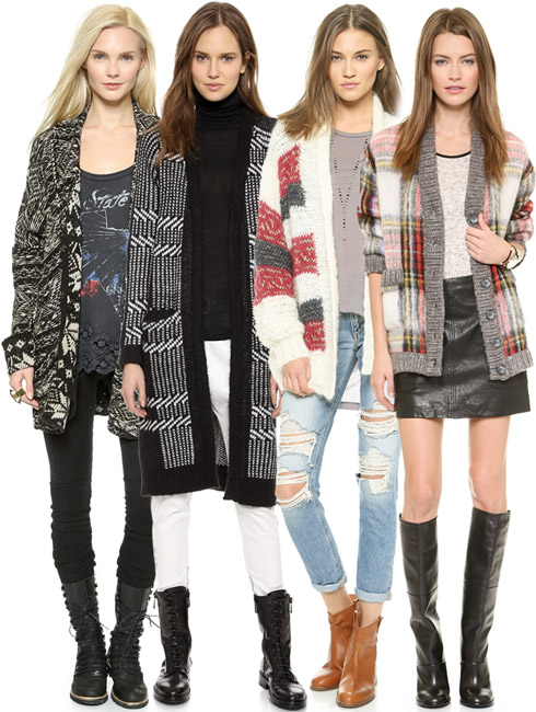 Fashion Trend - The Big Patterned Cardigan