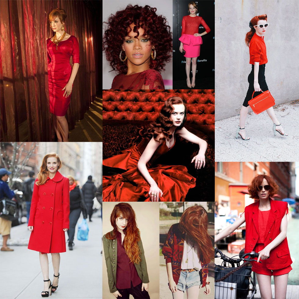 Redheads in Red