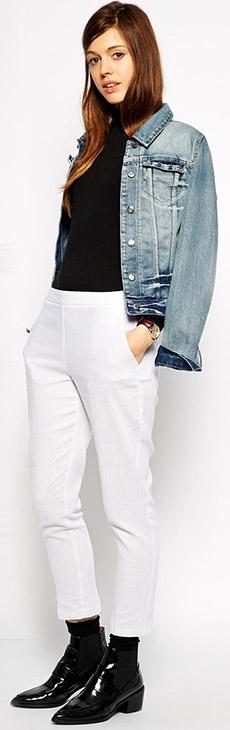 ASOS Crop Pants in Linen