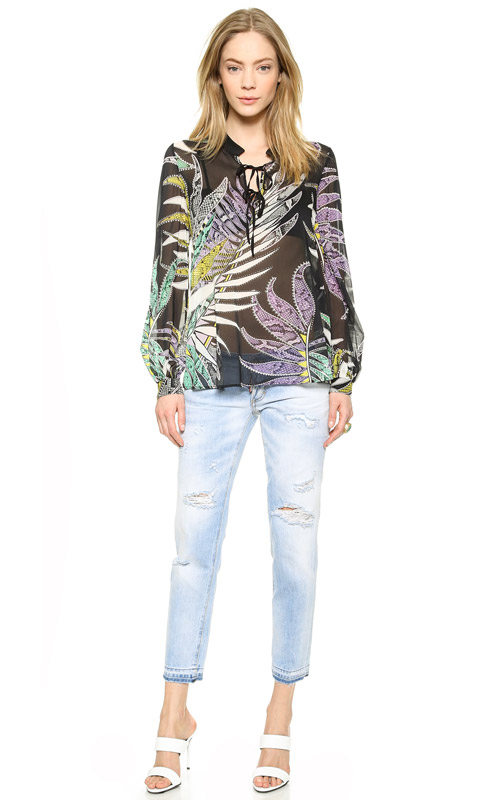 Just Cavalli Long Sleeve Blouse