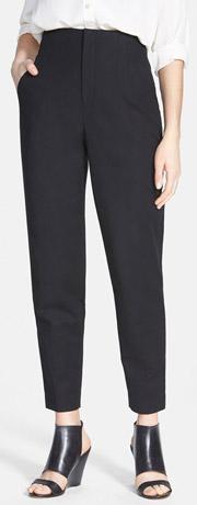 Vince Camuto Crop Stretch Cotton High Waist Pants