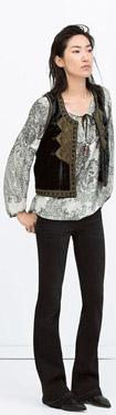 Zara Embroidered Velvet Waistcoat