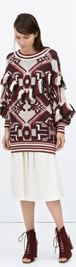 Zara Fringed Sweater