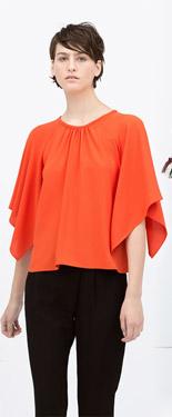 Zara Kimono Sleeve Top