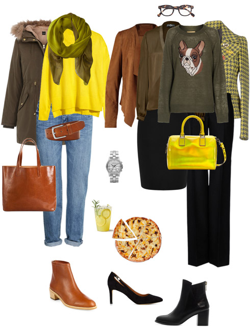 Ensemble Style Advice - Citron, Olive & Cognac