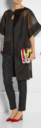 ANTONIO BERARDI Rupert Sanderso Patent Leather and Python Point Toe Flats