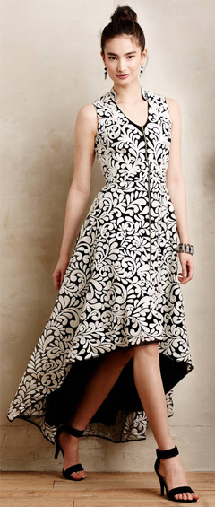 Anthropologie Acanthus Dress
