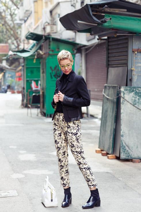 Floral Pants - Jacket Side