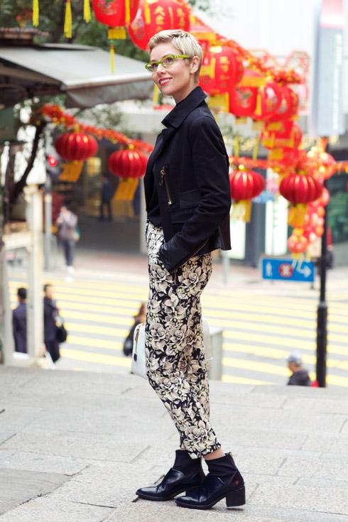 Floral Pants - Lanterns