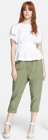 MARC BY MARC JACOBS Peasant Top and Crop Pants