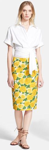 Michael Kors Wrap Shirt & Skirt