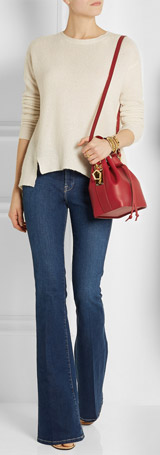SOPHIE HULME Small Leather Bucket Bag