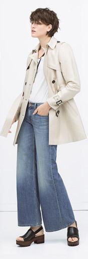 Zara Cotton Trenchcoat