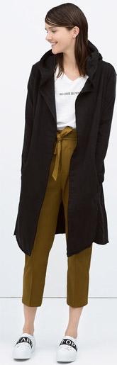Zara Long Plush Jacket