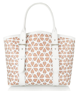 ALEXANDER MCQUEEN Legend Small Laser-cut Leather Tote