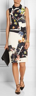 ERDEM Floral-print Stretch-crepe Dress
