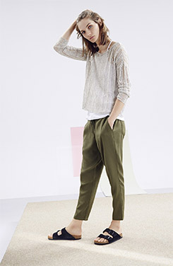 Eileen Fisher Open Stitch Pullover, Camisole & Slouchy Ankle Pants