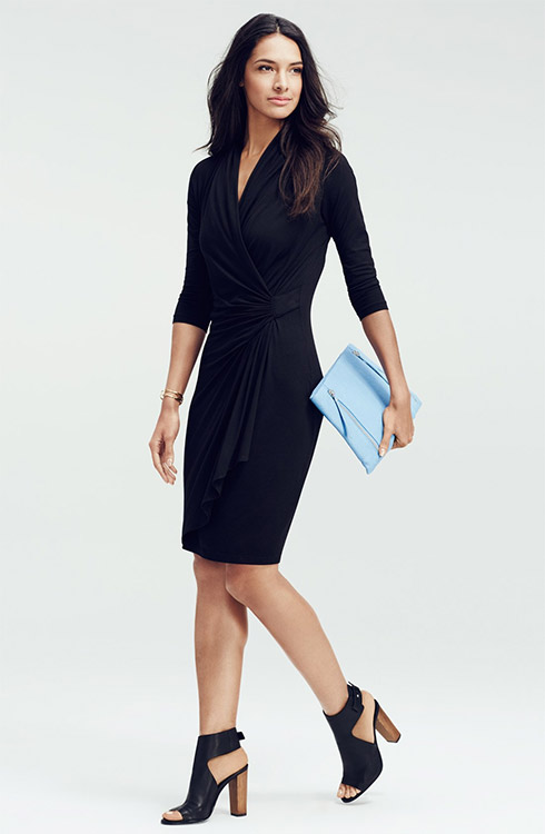 Karen Kane Faux Wrap Dress