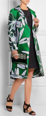 MARNI Floral-jacquard Coat