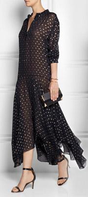 STELLA MCCARTNEY Marian Silk-blend Fil-Coupe Maxi Dress