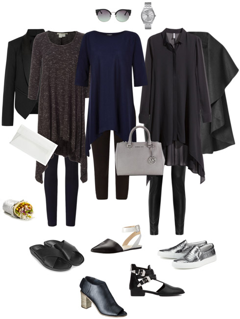 Ensemble Style Advice - Drapey Black with Leggings