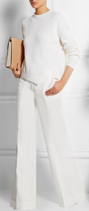 3.1 PHILLIP LIM Stretch-cotton Twill Wide-leg Pants