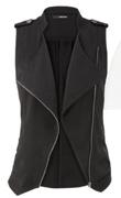Asymmetrical Lightweight Zip Front Vest