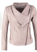 Leather Jacket Pearl Blush