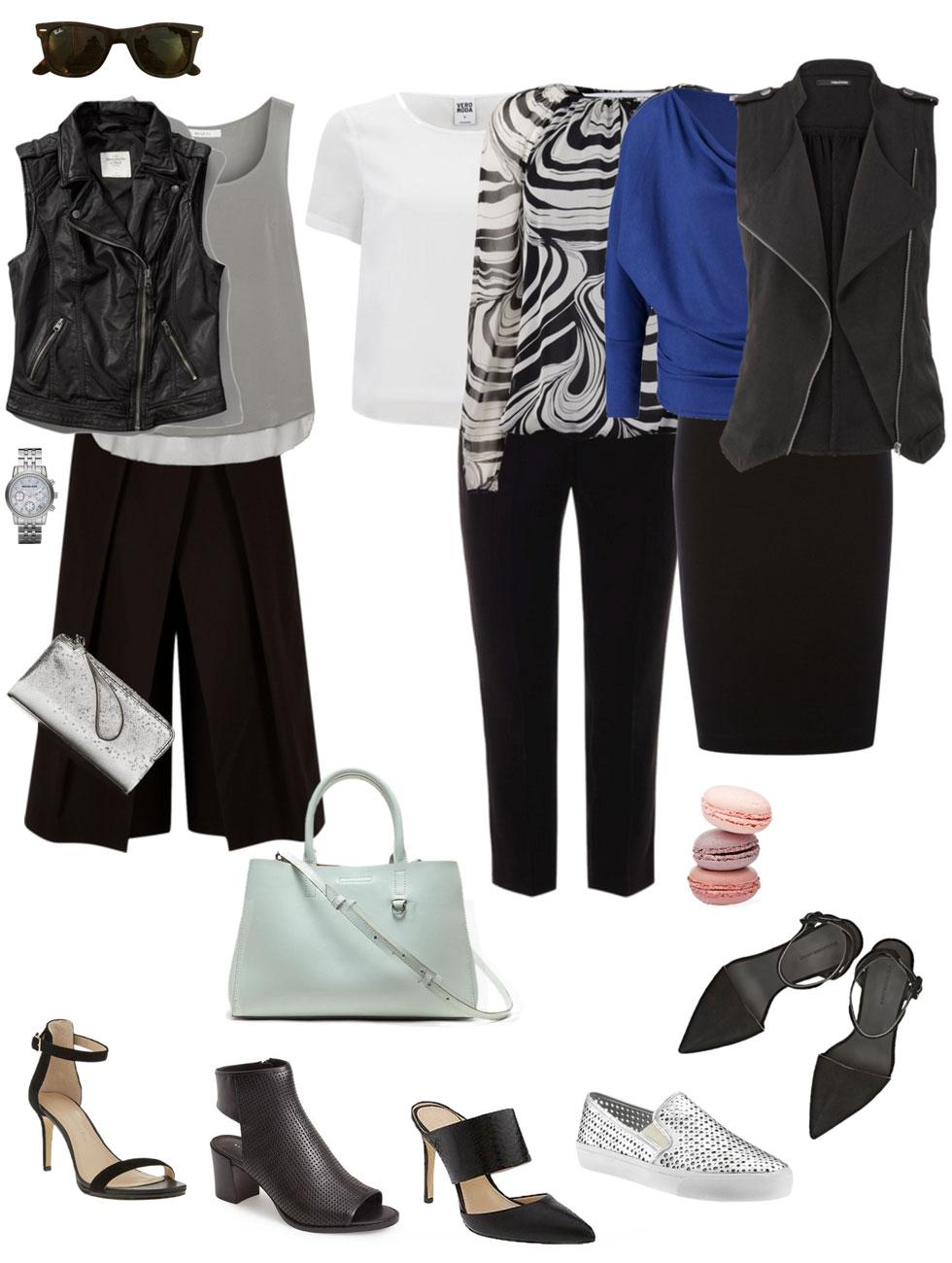 Ensemble: Culottes and Moto Vest