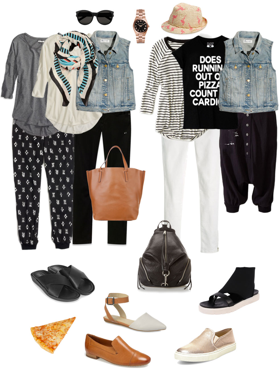 Mum on the Go: Casual Vest, Tee & Bottoms