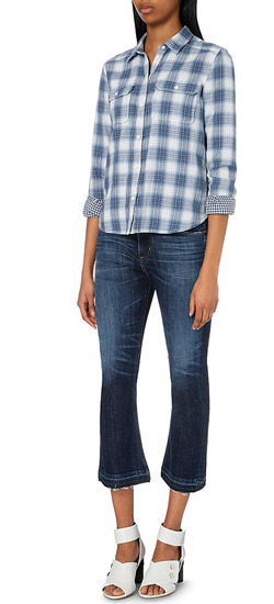 Citizens of Humanity Drew Cropped Flared Mid-rise Jeans