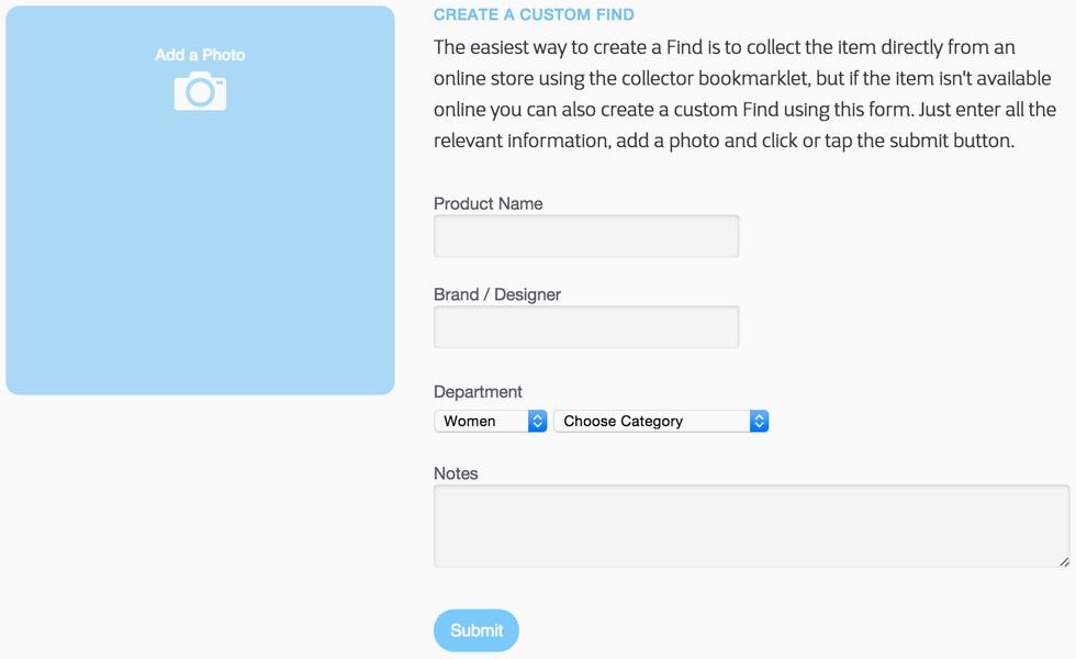 Custom Find Form