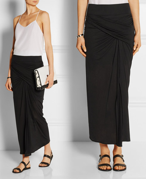 Prevent Maxi Skirt Uni-Leg with Front Side Slits - YLF