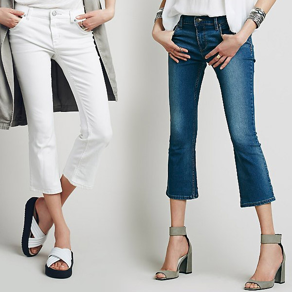 Fringe Trend: Cropped Flared Jeans - YLF