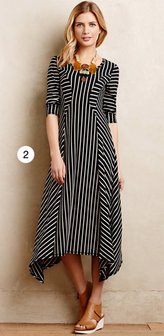 Anthropologie Pieced Stripe Dress