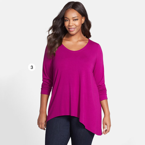 Eileen Fisher Soft V-Neck Jersey Top