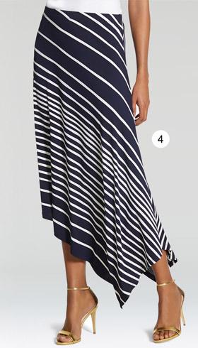 Knit Kit Striped Midi Skirt