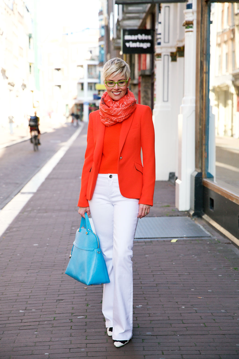 Orange with Flares - Front