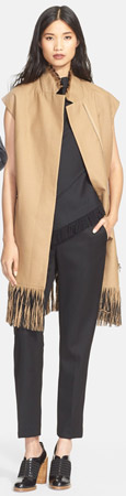 3.1 Phillip Lim Fringe Detail Long Wool Vest